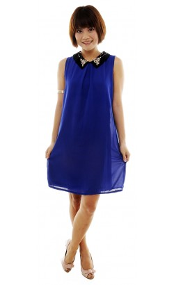 Regan pearl collar loose dress