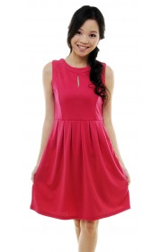 Raizel keyhole dress (pink)