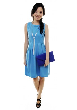 Raizel keyhole dress (blue)