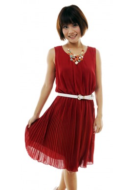 Shantel pleated skirt dress
