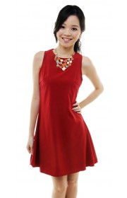 Hettie sleeveless dress (red)