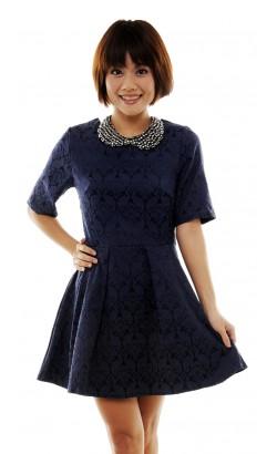 Bedelia baroque sleeved dress
