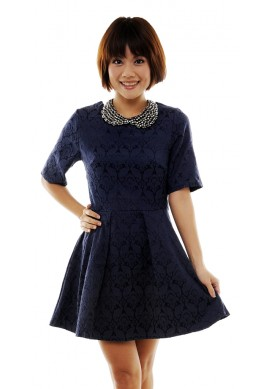 Bedelia baroque sleeved dress