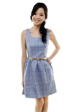 Jewell tweed dress (blue)
