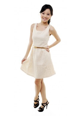 Jewell tweed dress (beige)
