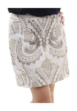 Blenda beaded embroidered skirt