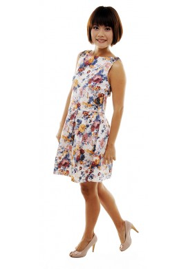 Fiorella garden skater dress