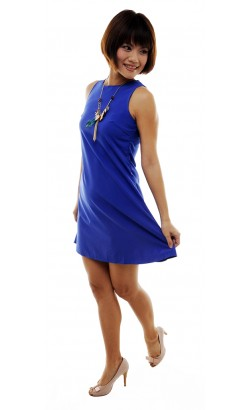 Hettie sleeveless dress (blue)