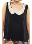 Alessa sequin bow top (black)