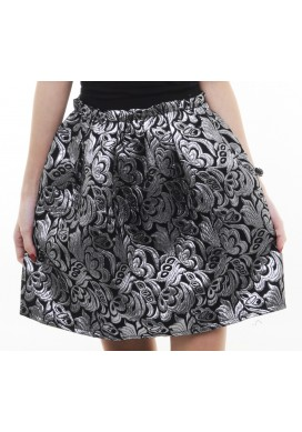 Madge metallic high waist skirt (silver)