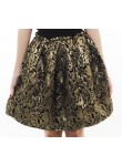 Madge metallic high waist skirt (gold)