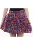 Tresa tweed flare skirt (fuchsia)