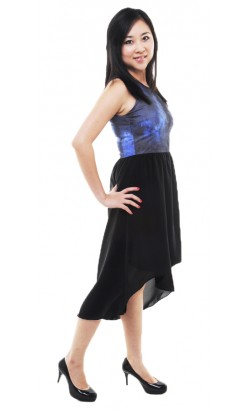 Haidee high low dress (yale blue)