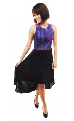 Haidee high low dress (violet blue)
