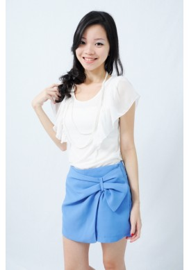 Fiorella chiffon sleeve top (white)
