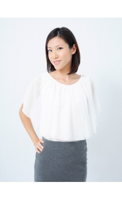 Wendi cape-like top (white)