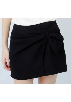 Sydelle side ribbon shorts (black)