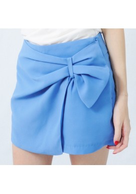 Sydelle side ribbon shorts (blue)