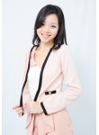 Arielle gold button cardigan (pink)