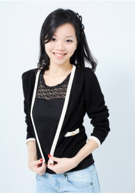 Arielle gold button cardigan (black)