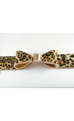 Leopard Prints Ribbon Bow Belt