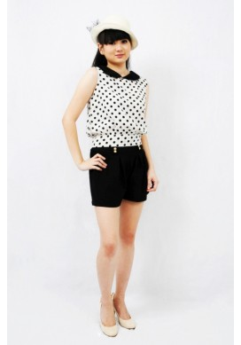 Phyliss polka dot with collar